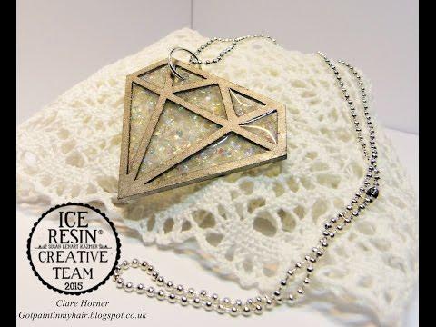 ICE Resin Valentine Diamond Necklace Tutorial