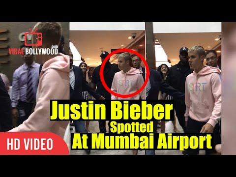 Justin Bieber Arrives At Mumbai Airport | Justin Bieber Concert In India LIVE