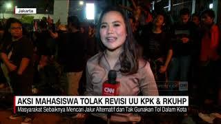 Panas! Aksi Mahasiswa Tolak UU KPK dan RKUHP
