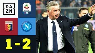 Wasserschlacht! Carlo Ancelotti jubelt spät: Genua - Neapel 1:2   Serie A   DAZN Highlights