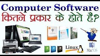 How many types of Computer Software are ? कम्प्यूटर सॉफ्टवेयर कितने प्रकार के होते हैं?