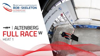 Altenberg | BMW IBSF World Championships 2021 - Women's Skeleton Heat 1 | IBSF Official
