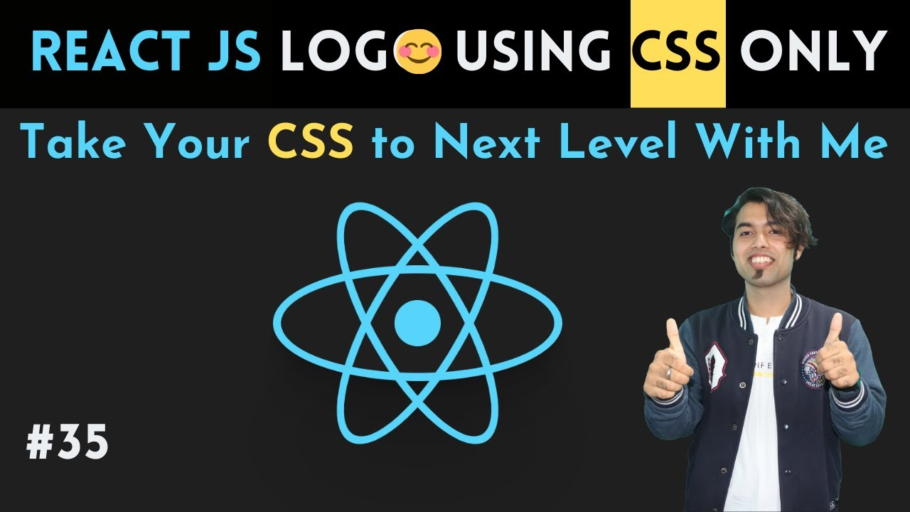 🔴 Create REACT JS Logo using CSS Only 😍 CSS Master Series in Hindi
