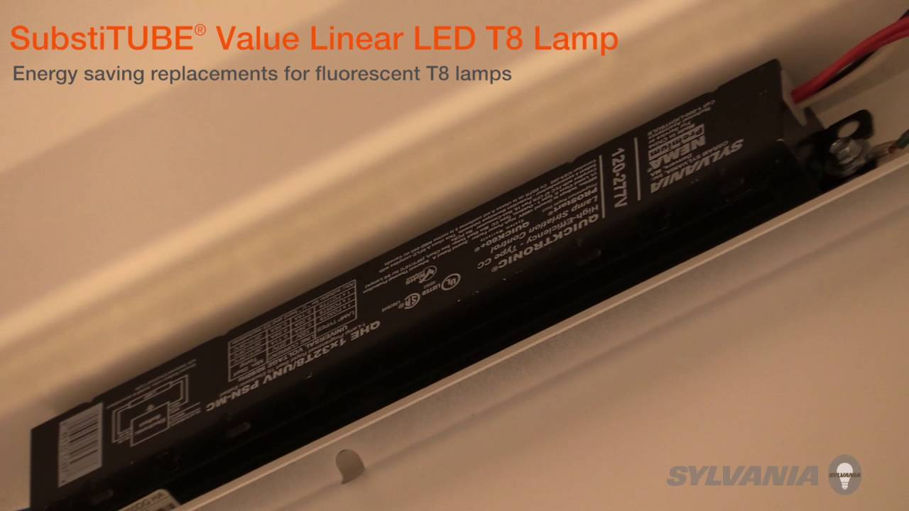 sylvania substitube value t8 products installation video youtube sylvania t8 led wiring diagram  [ 1280 x 720 Pixel ]
