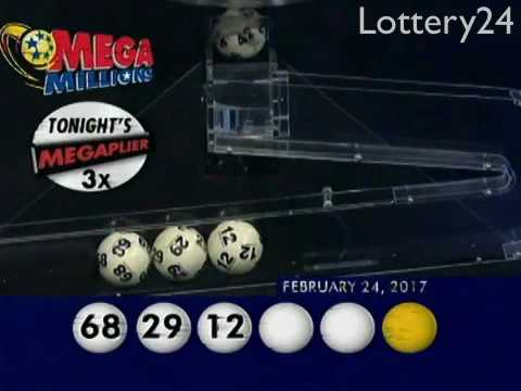 2017 02 24 Mega Millions Numbers and draw results