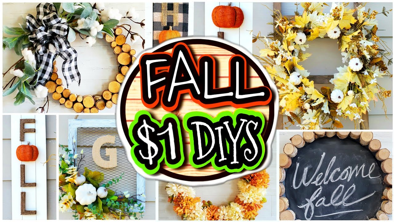 7 Quick & Easy (NOT CHEESY) $1 DIY Fall Porch Decor Ideas 🍁