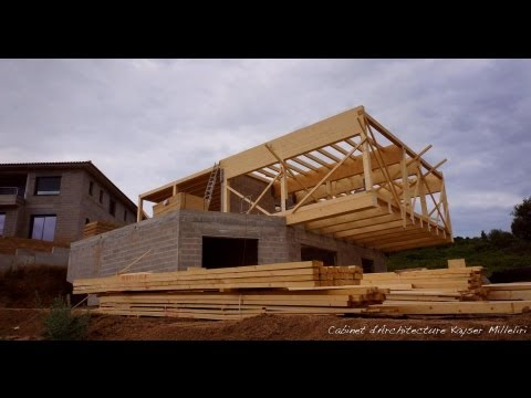 Architecte en corse chantier maison contemporaine for Maison ecologique en bois