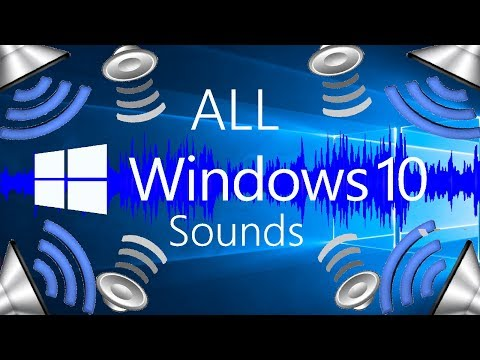 ALL MICROSOFT WINDOWS 10 SOUNDS