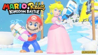 Mario + Rabbids Kingdom Battle - Princess Peach Battle Boss Icicle Golem (World 2 Final Boss)