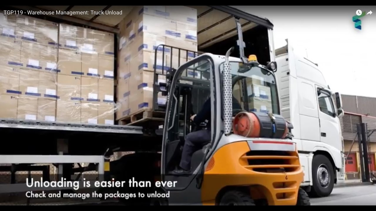tgp119 warehouse management truck unload youtube