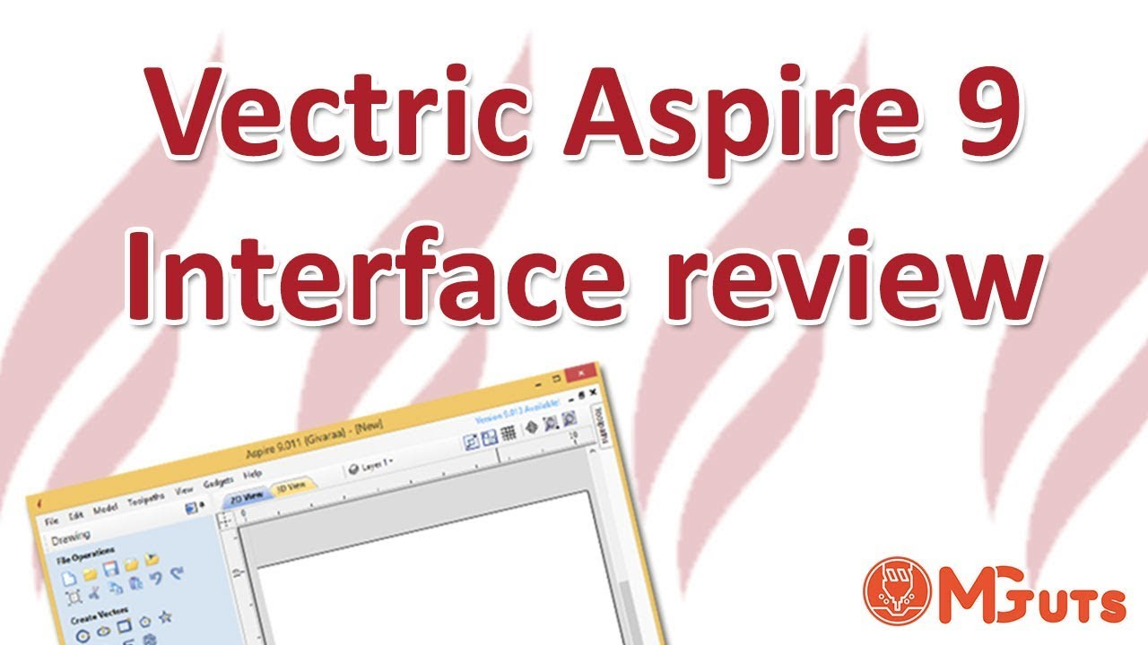 Vectric Aspire 9 interface review - Free tutorials for new beginners in Vectric Aspire