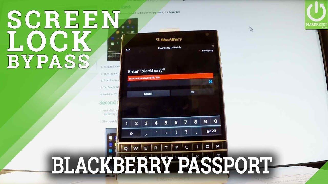 Hard Reset BLACKBERRY Passport - Bypass Password / Restore Settings