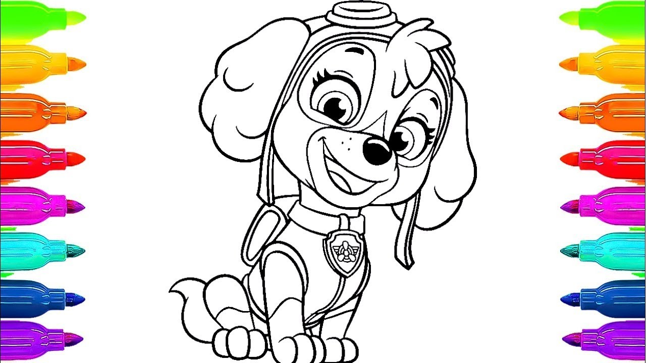 PAW Patrol Coloring Book Skye Paint