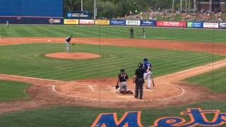 Tim Tebow's first Grapefruit League hit