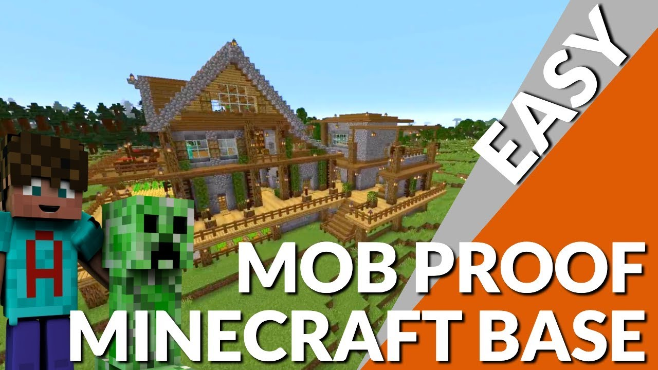 Minecraft Elevated Minecraft Base Tutorial Completely Mob Proof With Everything Avomance 2019 Youtube