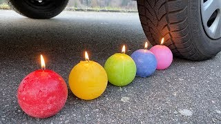 Crushing Crunchy & Soft Things by Car! EXPERIMENT: CAR VS CANDLES
