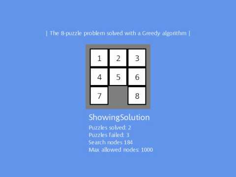 8 puzzle solver youtube