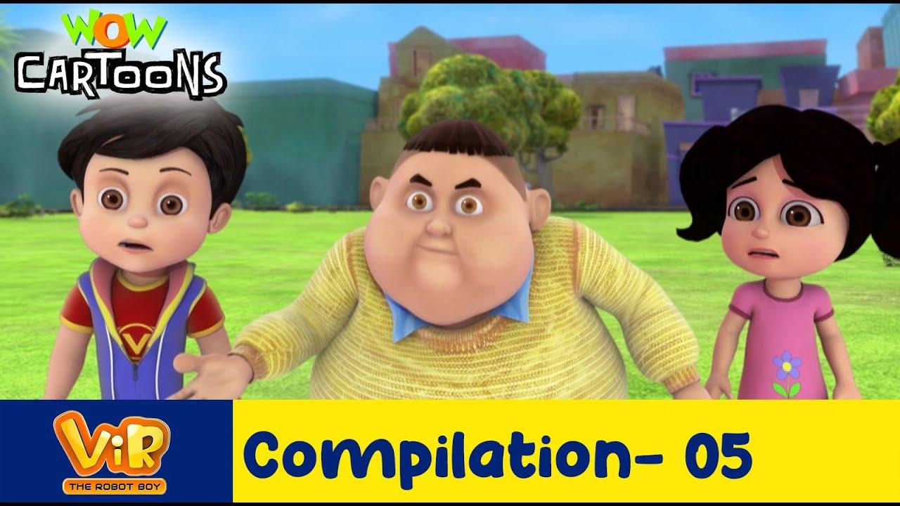Vir the robot boy | Action Cartoon Video | New Compilation - 05 | Kids Cartoons | Wow Cartoons