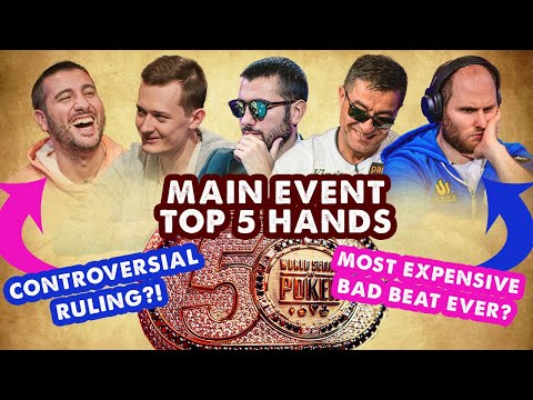 2019 WSOP Main Event Top 5 Hands | World Series Of Poker