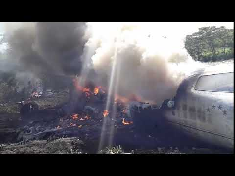 Incendio aeronave Learjet 45XR de la Sedena, en inmediaciones Aeropuerto El Lencero Emiliano Zapata,