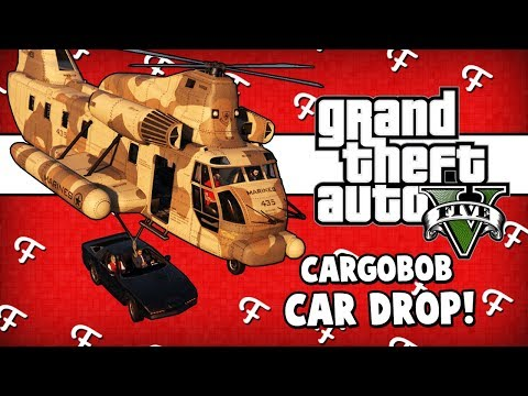 GTA 5: Boom Box - Were Partyn, Vegasjames007, Cargobob Car Drop On Random (Online - Comedy Gaming)