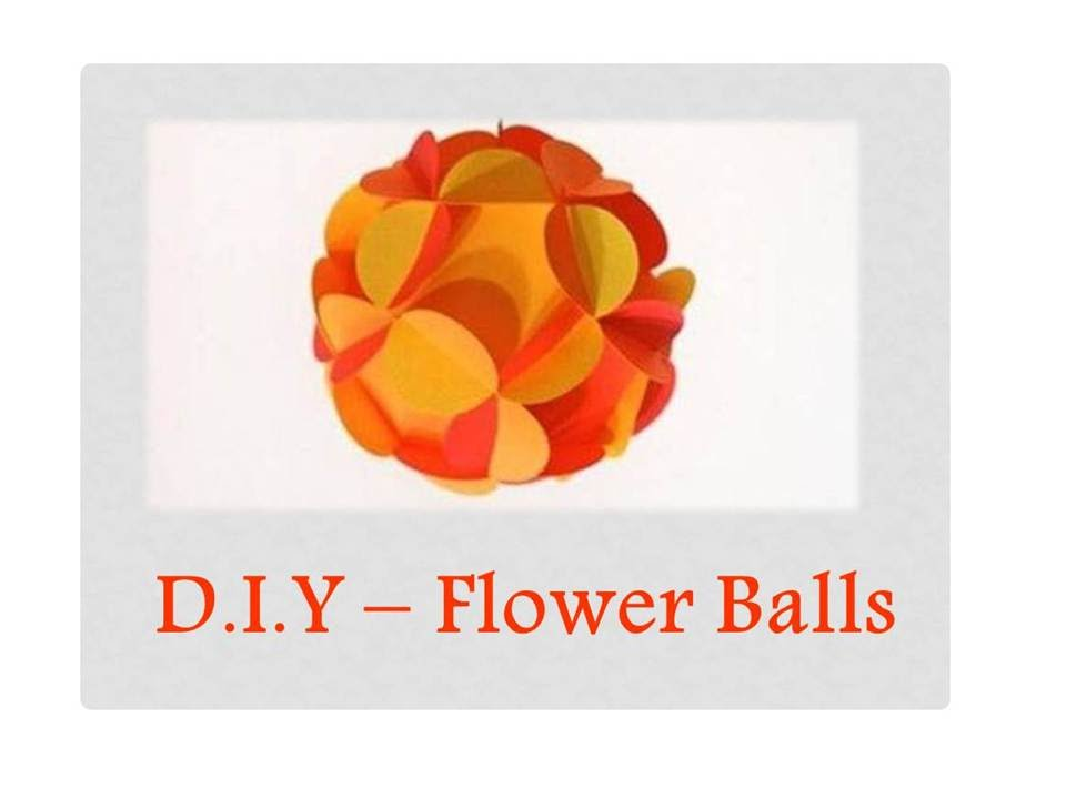 DIY How To Make 3D Paper Flower Ball Easy YouTube