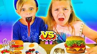 gummy food vs real food challenge kids eat a rat