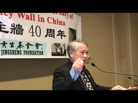 中华民国台湾国立政治大学教授李酉谭说魏京生提出的第五个现代化政治现代化已经在台湾实现了