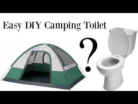 Easy Diy Camping Toilet For Under 8 Youtube