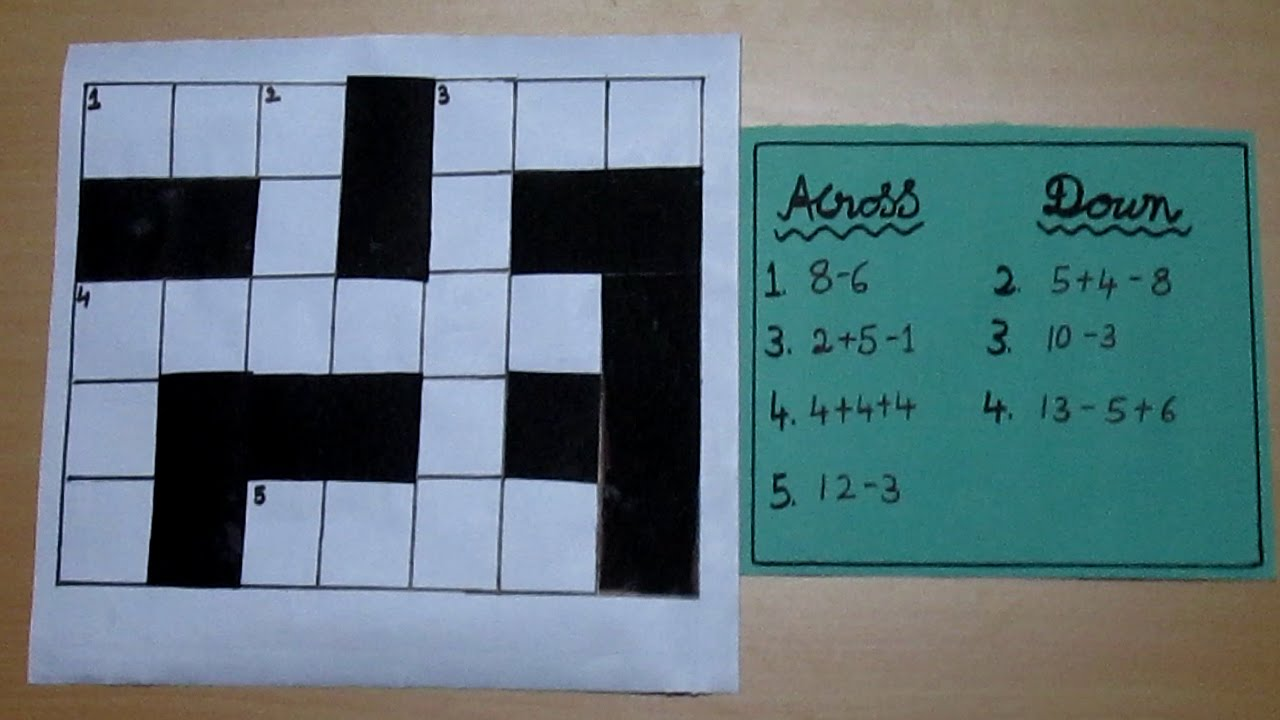 Maths Cross Word Puzzle - YouTube