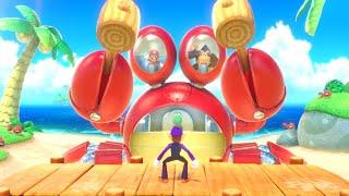 Super Mario Party - Minigames - Waluigi vs Mario vs Yoshi vs Donkey Kong