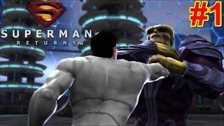 Superman Returns PS2 Gameplay #1 Warworld [Superman vs Mongul]