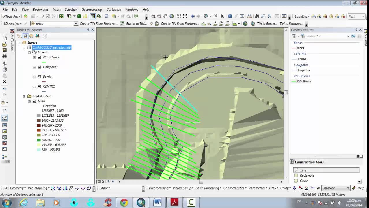 Hecgeo Ras Geometria De Un Rio Para Arcgis 10 1 Youtube