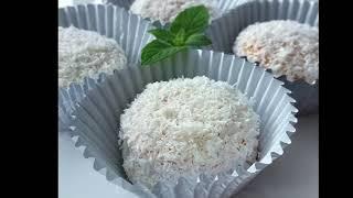 Kokosowe ciastka bez pieczenia