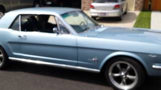 1965 Mustang Start up and drive with magnaflow