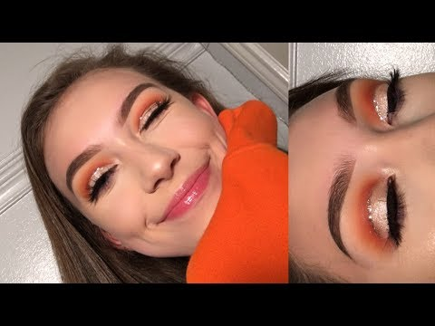 Summer GOLD GLITTER Cut Crease Eyeshadow Tutorial | Collab w/ Tina Halada