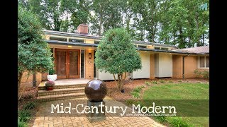 Groovy MID-CENTURY MODERN Home on OVER 6 ACRES in Charlotte Area - UNDER CONTRACT!