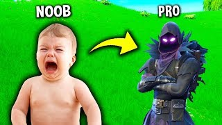 NOOB Turns Into PRO and THIS HAPPENED.. (Noob vs Pro) Fortnite #3