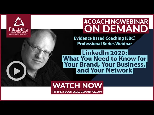 #Coaching #LinkedIn 2020: What You Need to Know for Your Brand, Your Business, and Your Network
