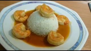 Rice and Prawn/Shrimp Curry (Thai Cuisine)