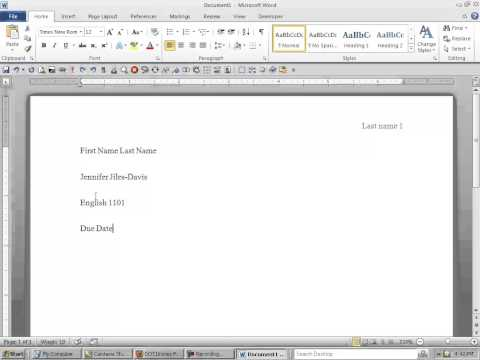 How To Format Your Word Document To Meet MLA Requirements