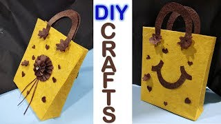 How to make beautiful paper bag || handbags || paper craft || designer bag