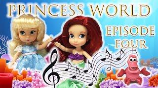 Princess World Episode 4! Starring Disney Princess Ariel, Cinderella, Moana, Pua, and Tinkerbell!