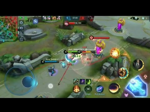 REDMI 8 MOBILE LEGENDS FANNY GAMEPLAY !!! test record