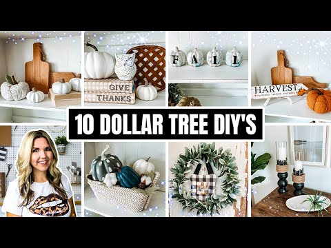 Impress Everyone one with 10 Dollar Tree Fall DIY's  that take 5 minutes to DO!