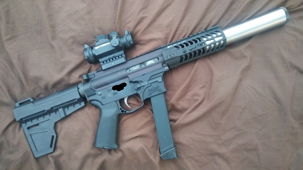 Palmetto State Armory AR-X9 Pistol Suppressed 9mm