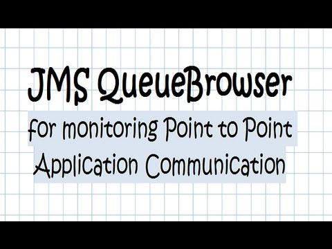 JMS QueueBrowser Point To Point Tutorial
