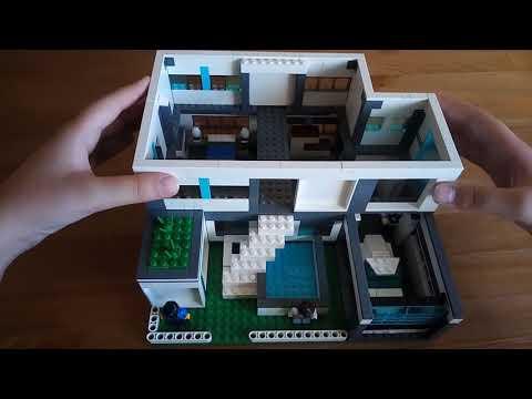 Лего дом в стиле High Tech. 3 комнаты, бассейн, гараж.
