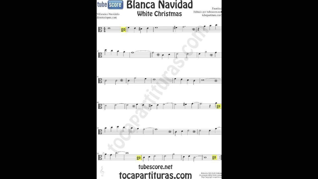 Blanca navidad partitura en clave de do para viola - Blanca navidad partitura ...