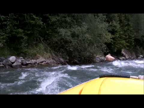 Rafting In The Dolomites On The Noce River In Northern Italy